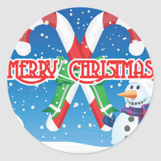 Well the Christmas Season Is Here Now With Classic Round Sticker