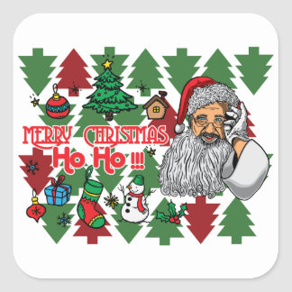 Well the Christmas Season Is Here Now With Square Sticker