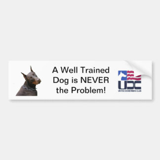 Well Trained Dog Bumper Sticker - Red