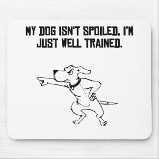 Well Trained Dog Owner Mouse Pad