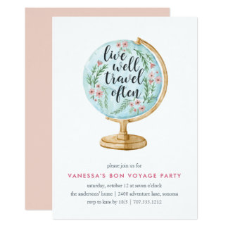 Well Traveled   Going Away Party Invitation