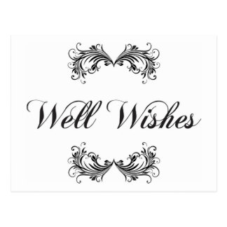 Well wishes postcard