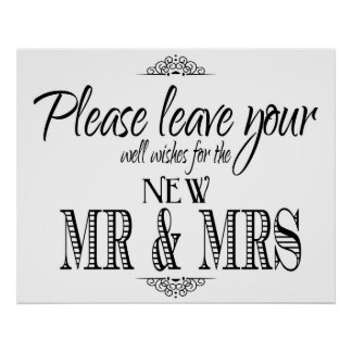 Well Wishes wedding sign