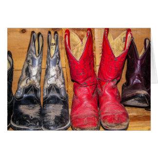 Well Worn Cowboy Boots Card