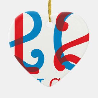Wellcoda 2012 Apparel Numbers Crazy Year Ceramic Heart Ornament