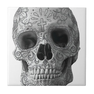 Wellcoda 3D Skull Horror Face Aztec Head Tile