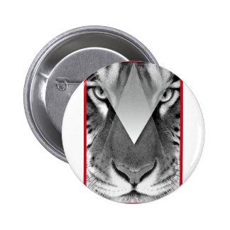 Wellcoda Amazing Tiger Cat Face Wild Life 2 Inch Round Button
