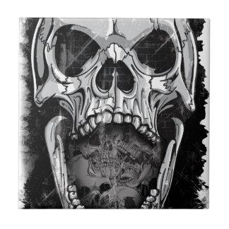 Wellcoda Angry Skull Reaper Skeleton Bone Tiles