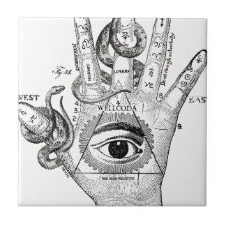 Wellcoda Apparel Hand Compass Judgement Tile