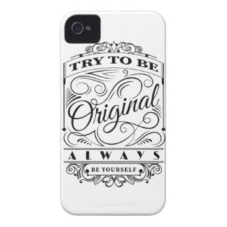 Wellcoda Be Original Yourself Motivation iPhone 4 Covers