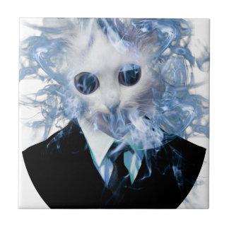 Wellcoda Cat Suit Smoke Weird Animal Pet Tile