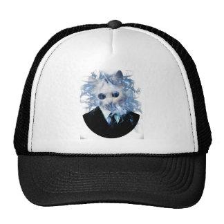 Wellcoda Cat Suit Smoke Weird Animal Pet Trucker Hat