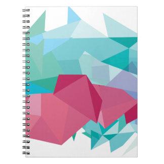 Wellcoda Crazy Abstract Shape Future Life Note Book