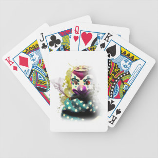 Wellcoda Crazy Evil Clown Toy Horror Face Bicycle Playing Cards