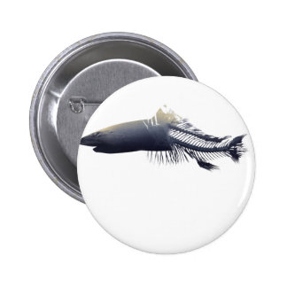 Wellcoda Dead Shark Eaten Fish Ocean Life 2 Inch Round Button
