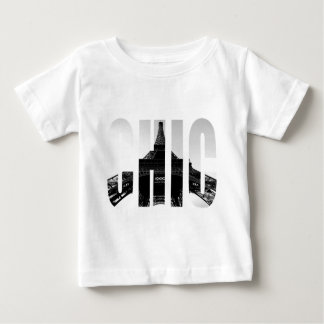 Wellcoda Eiffel Tower Chic Swag Paris Love Baby T-Shirt