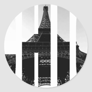 Wellcoda Eiffel Tower Chic Swag Paris Love Classic Round Sticker