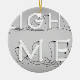 Wellcoda Enlighten Me Bulbs Swag Hipster Round Ceramic Ornament
