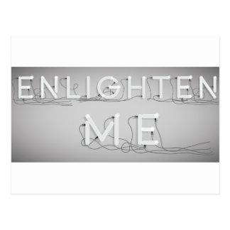 Wellcoda Enlighten Me Electric Bulb Lamp Postcard