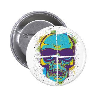 Wellcoda Epic Party DJ Skull Dead Summer 2 Inch Round Button