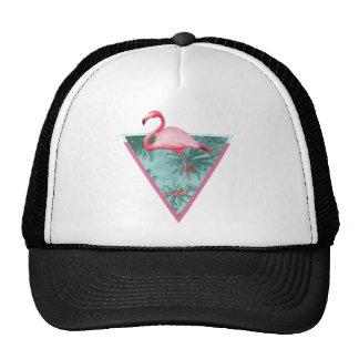Wellcoda Flamingo Paradise Palm Lake Fun Trucker Hat