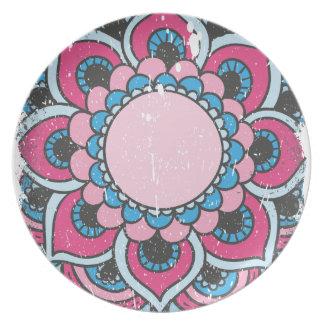 Wellcoda Flower Close Up View Blossom Plate