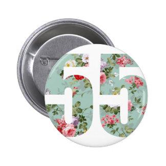 Wellcoda Flower Power 55 Swag Wild Plant 2 Inch Round Button