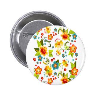 Wellcoda Flower Power Garden Yard Life Fun 2 Inch Round Button