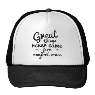 Wellcoda Good Things Never Came From Comfort Zones Trucker Hat