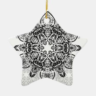 Wellcoda Hipster Swag Reindeer Deer Stag Ceramic Star Ornament