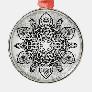 Wellcoda Hipster Swag Reindeer Deer Stag Silver-Colored Round Ornament