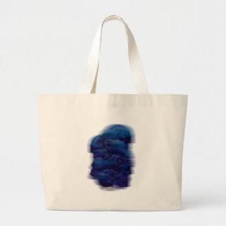 Wellcoda Horror Ghost Skeleton Evil Death Jumbo Tote Bag