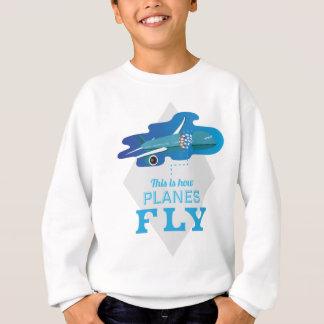Wellcoda How Airplane Fly Jet Sky Bird Sweatshirt