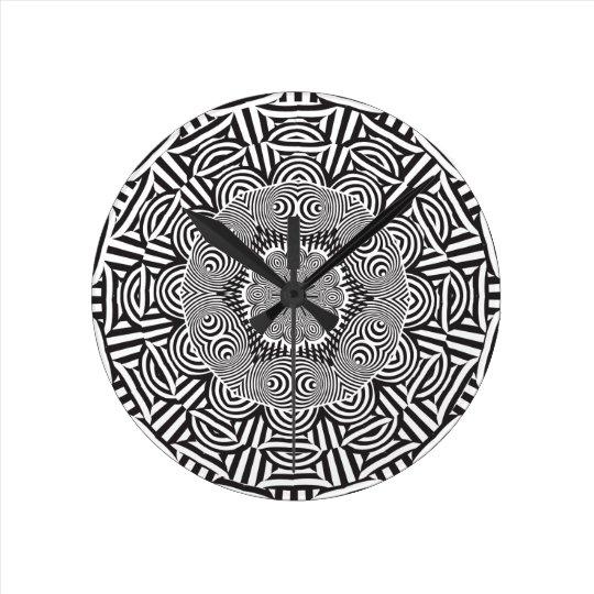 Wellcoda Indian Style Illusion Optical Wall Clocks
