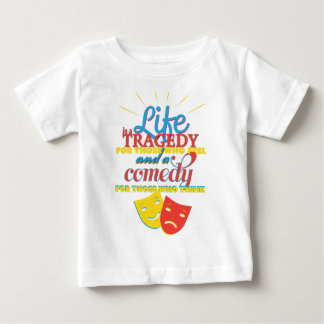 Wellcoda Life Comedy Tragedy Mask Living Baby T-Shirt