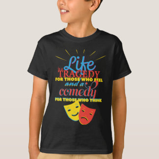 Wellcoda Life Comedy Tragedy Mask Living T-Shirt