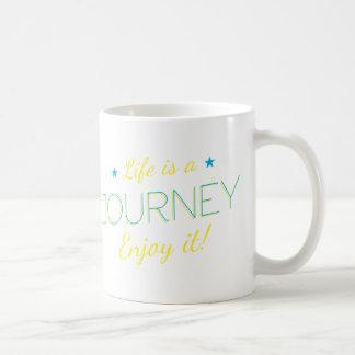 Wellcoda Life Is A Journey Enjoy The Ride Basic White Mug