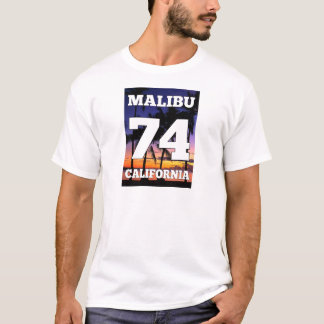 Wellcoda Malibu California USA Beach Life T-Shirt