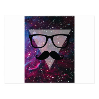 Wellcoda Master Disguise Space Funny Face Postcard