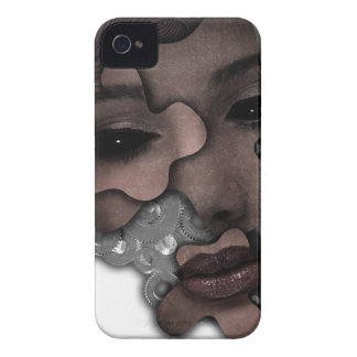 Wellcoda Mechanical Lady Face Crazy Metal iPhone 4 Cover
