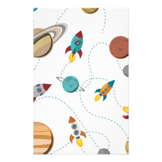 Wellcoda Meet You In Galaxy Mad Planet Stationery Design