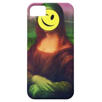Wellcoda Mona Lisa Smile Wink Emoji Art iPhone 5 Cases