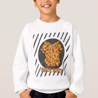 Wellcoda Monster Split Kitty Animal Twin Sweatshirt