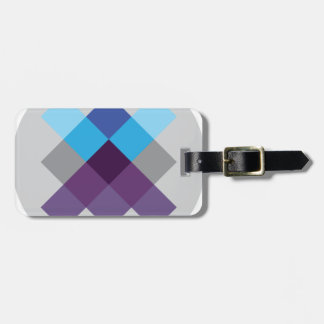 Wellcoda Multi Square Circle Crazy Pattern Luggage Tag