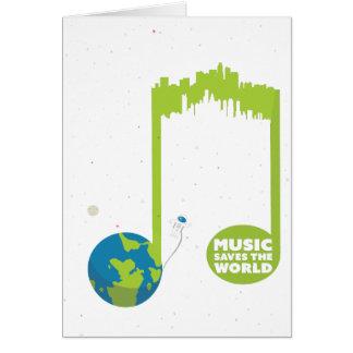 Wellcoda Music Saves The World Dance Life Greeting Card
