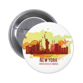 Wellcoda New York City NYC USA View Tour 2 Inch Round Button