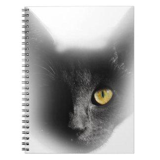 Wellcoda One Eyed Black Cat Freaky Kitten Notebooks