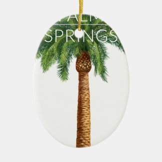 Wellcoda Palm Springs Holiday Summer Fun Ceramic Ornament
