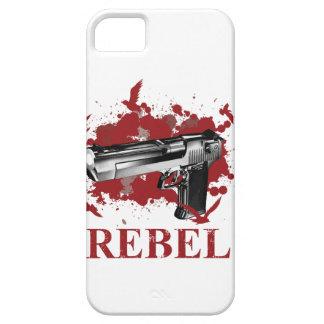 Wellcoda Pistol Blood Bullet Rabel Bird Case For The iPhone 5
