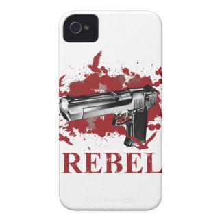 Wellcoda Pistol Blood Bullet Rabel Bird Case-Mate iPhone 4 Case